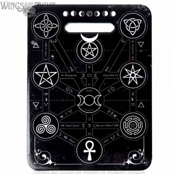 Alchemy Gothic Magic Symbols Ceramic Trivet